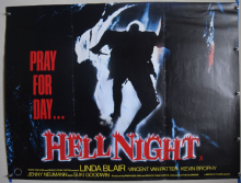 Hell Night (1981) Horror Poster Linda Blair - UK Quad